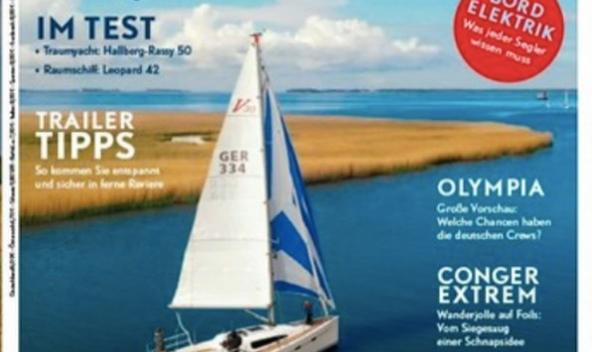 VIKO S 30 on the July cover of Yacht.de magazine