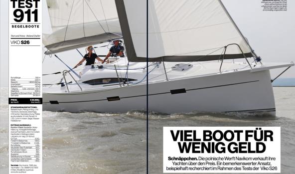 Viko S 26 sailing test in Die Yachtrevue magazine